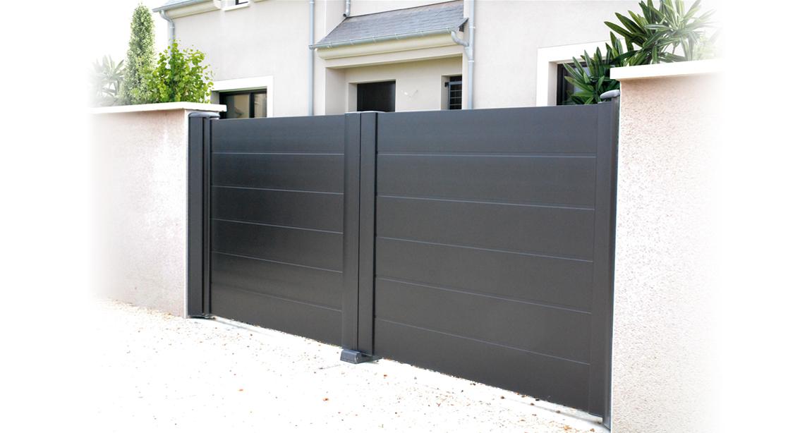 Portail alu 3m50 portail alu rioz gris with portail alu for Portail 3m50 coulissant